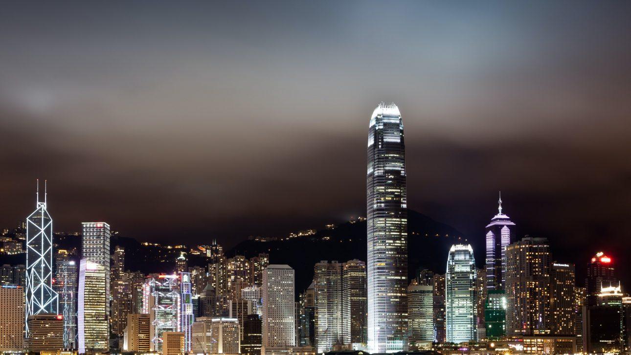 Hong Kong Night Skyline, IFC, BOC Tower