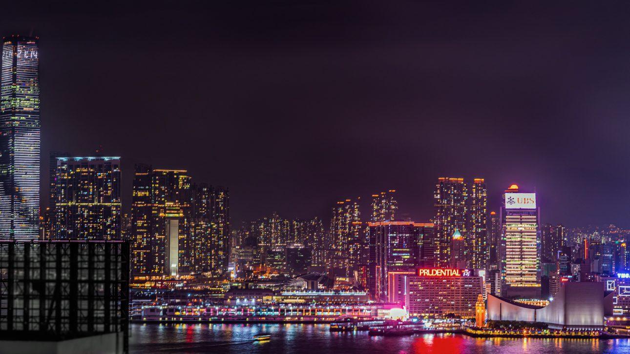Sky Terrace Hong Kong Night Skyline